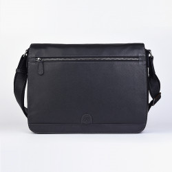 DAVID WILLIAM Leather post bag