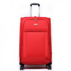 AIRPLUS Βαλίτσα κόκκινη μεγάλη με 4 ρόδες από αδιάβροχο ύφασμα APC03I